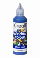 Creall glass 20538 window color Marine blauw 80 ml