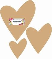Dutch Doobadoo 460.440.150 MDF Hearts 3maten