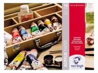 AANBIEDING Van Gogh 93162432 acrylpapier blok 24x32cm  10vel 370grsFSC