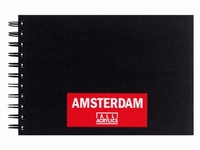 Amsterdam 93023022 Black book A5, 250grams