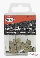 Meyco 66830 Studs oud messing (incl. gereedschap)
