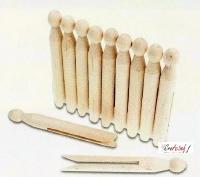 Meyco 65223 Houten rondkop wasknijpers 18stuks 11cm / 1,3cm