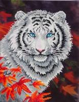 Diamond Dotz DD 7.006 White Tiger in Autumn 45,7x35,5cm