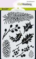 Mask Stencil CE185070_0102 Xmas Floral A6 10,5 x 14,8