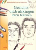 Boek: Gezichtsuitdrukkingen leren tekenen isbn:9044727982 A4 paperback