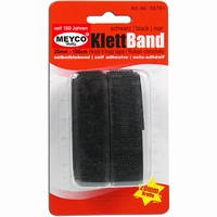 Meyco 65761 Klittenband zwart zelfklevend 20mm/1meter