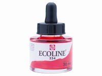 Talens Ecoline pipet-flacon 30ml 334 Scharlaken rood