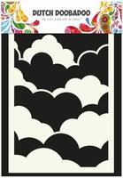 Dutch Doobadoo Mask Art Stencil 470.471.001 Clouds A6