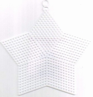 Plastic Stramien ster 13cm  DH300015  set van 12 stuks