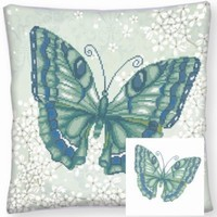 Diamond Dotz DD16.008 Pillow Papilon Vert 44x44cm