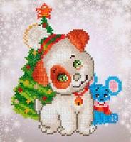 Diamond Dotz DD 3.012 Christmas Pup & Mouse 23x25cm