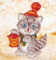 Diamond Dotz DD 3.013 Christmas kitten glow 23x25cm