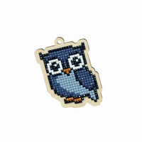 Diamond Painting set WW155 Houten Charm set Grey Owl