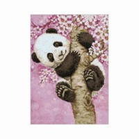 Diamond Painting set WD076 Sweet-panda canvas