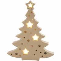 CCH54905 Papier-Mache Kerstboom met verlichting