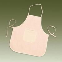 Katoenen kinderschort met zak, ongebleekt KP212305141 2-4 jaar45x50cm