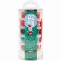 Foam Clay Creotime78844 Christmas, 6x14gram kerstkleuren