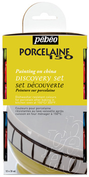 Pebeo Porcelaine 150 Discovery set 754403 Glossy+Pastel