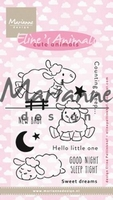 Clear Stamp MD-EC0175 Elines cute animals schaap