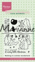 Clear Stamp MD-EC0173 Elines cute animals Kerstegeltjes