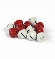 H&C12239-3932 Belletjes rood wit 10mm-12stuks
