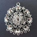 Metalen ornament rond voor strass art. 12030-1001 H&C fun 5cm