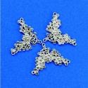 Metalen ornament v-vorm voor strass art. 11808-1801 H&C fun 4,5x3,5cm