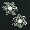 Metalen ornament bloem 11808-9239 H&C fun 5cm