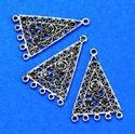Metalen ornament driehoek 11808-9259 H&C fun 4 cm