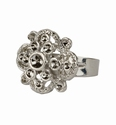 Ring voor strass grote bloem 12011-1092 H&C fun 2,2x2cm verstelbaar