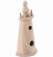 Houten vogelhuisje Vuurtoren (half model) 190106-8137