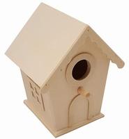 Vogelhuisje klein met details 3725-8440 circa 12cm hoog