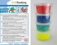 Craftemotions set Foamball clay 1201 Primary