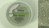 Craftemotions-foamball-clay-0501 Zilver-glitter