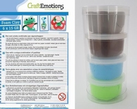 Craftemotions set Silk Foamclay 1102 Natural