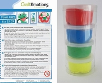 Craftemotions set Silk Foamclay 1101 Primary