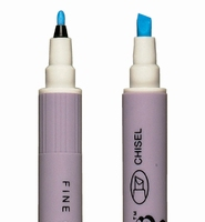 ZIG TC-6700 Emboss pen transp. Fine & Chisel / 2 punten