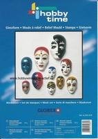 HobbyTime Gietvorm 10 gezichten/maskers art. 910