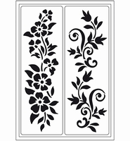 VIVA Decor Flex stencil 400410000 Zomer rand A5