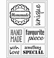 VIVA Decor Flex Stencil 400409800 Home made A5