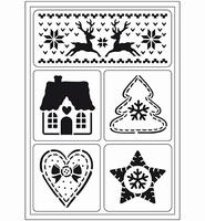 VIVA Decor Flex Stencil 400409400 Skandinavische kerst A5