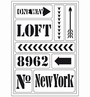 VIVA Decor Flex Stencil 400409200 New York Loft A5