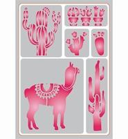 Pronty Sticky Stencil 487.012.031 Lama A5