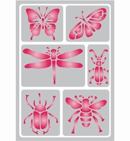 Pronty Sticky Stencil 487.012.029 Insects A5