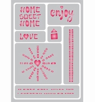 Pronty Sticky Stencil 487.012.028 Home Sweet Home A5