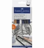 Faber-Castell Charcoal Sketch Set FC114002 7-delig