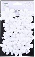 Little Birdie QLB001-WH Witte papier bloemen ass. 30stuks