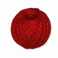 Halbach 15620-003-77 Jute Macrame touw Rood 3mm