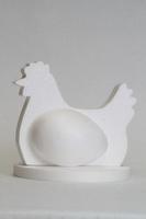 Styropor snijvorm Kip, zittende kip 4-delig
