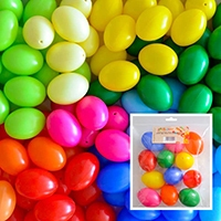Kunststof 6360 eieren 6cm assorti kleuren